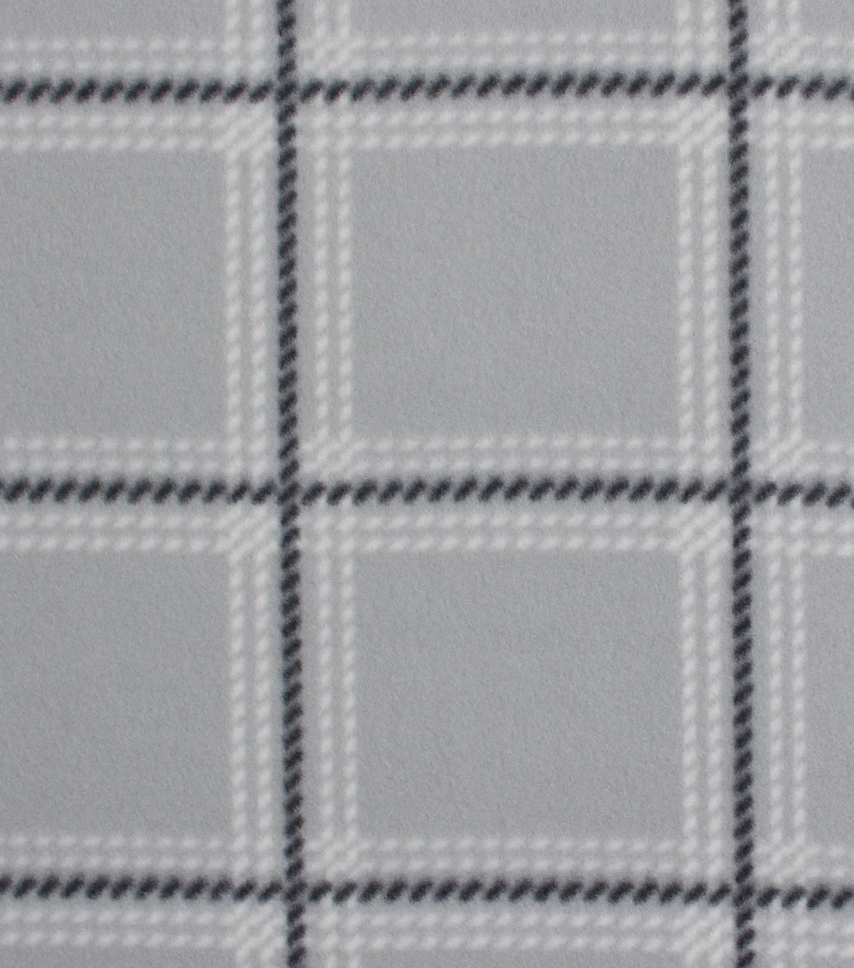 Blizzard Fleece Fabric -Downtown Gray Plaid