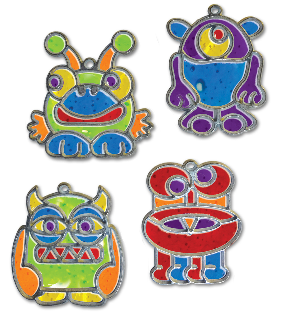 Craft EZ Oven Crystal Creations Light Catchers-Monster