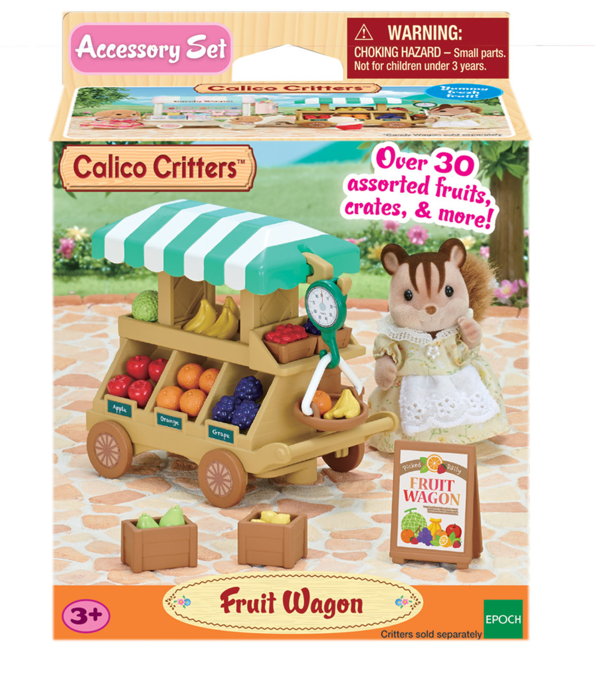 Calico Critters Fruit Wagon