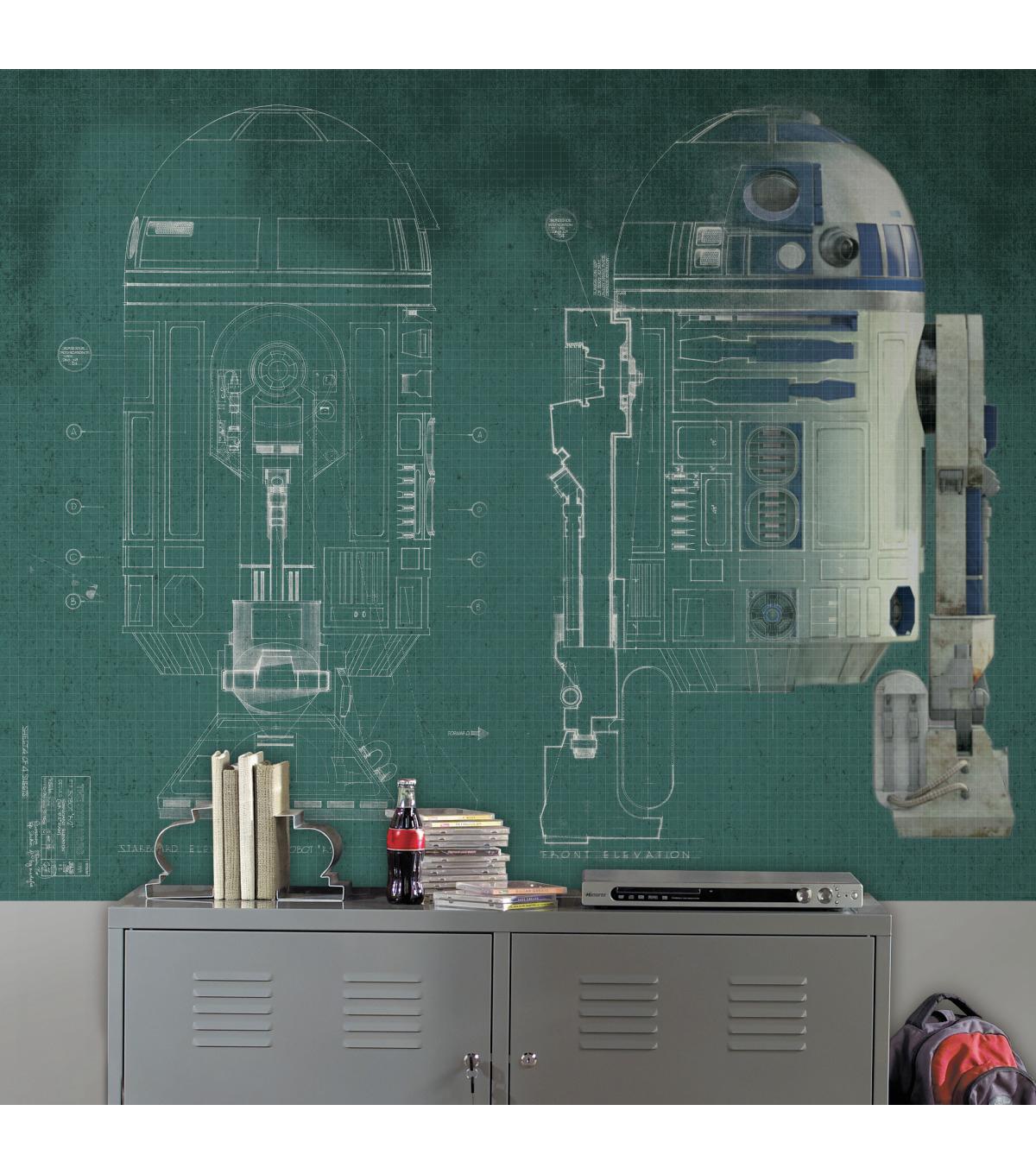 York Wallcoverings Pre Pasted Mural-Star Wars R2D2