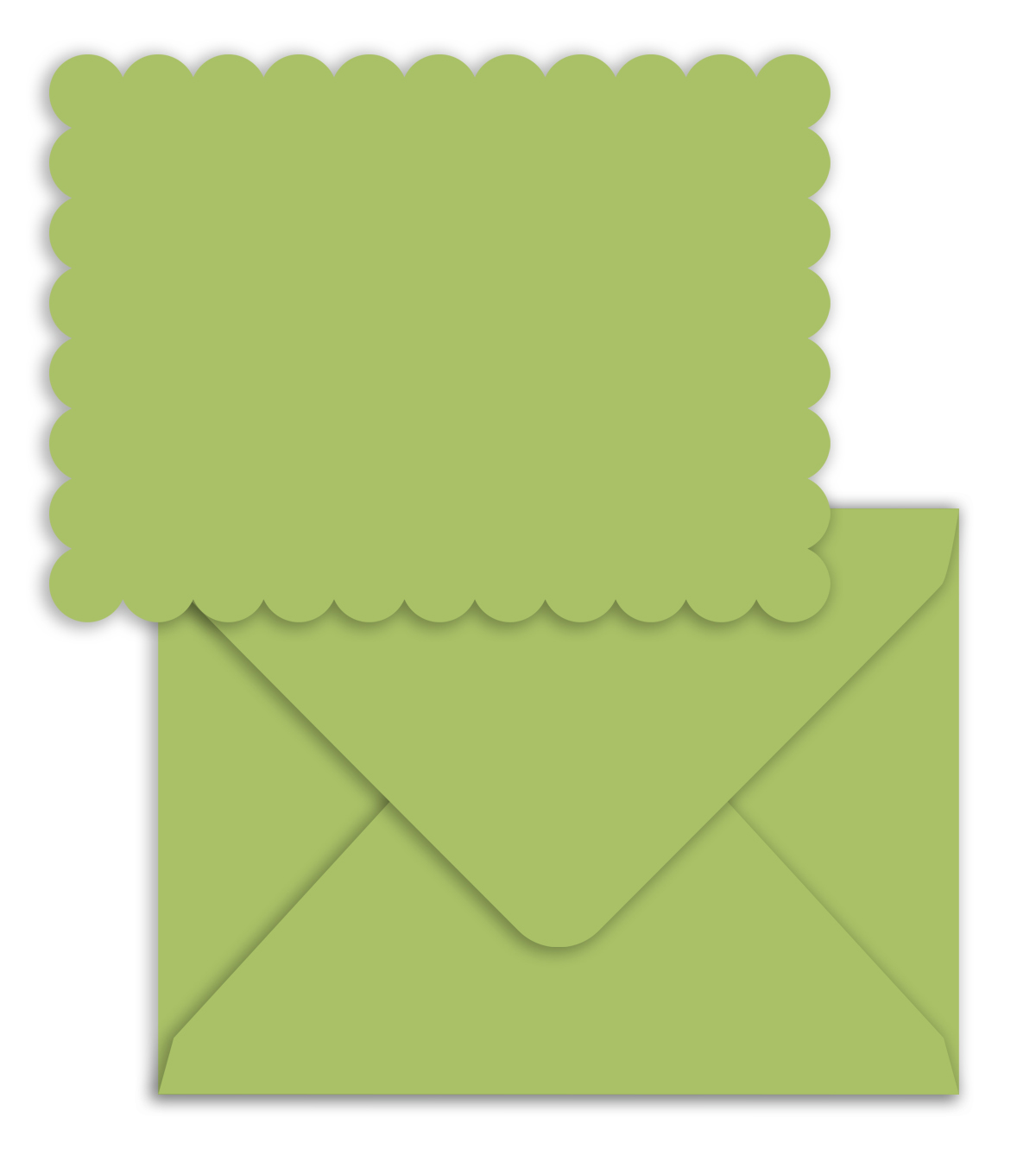 Park Lane A2 Cards & Envelopes-Green