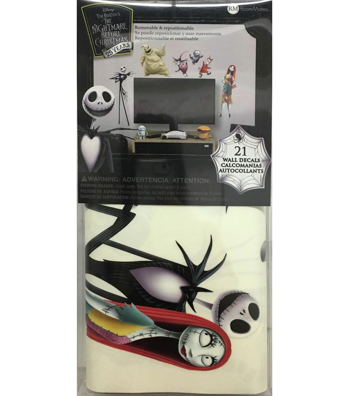 York Wallcoverings Wall Decals-Nightmare Before Christmas