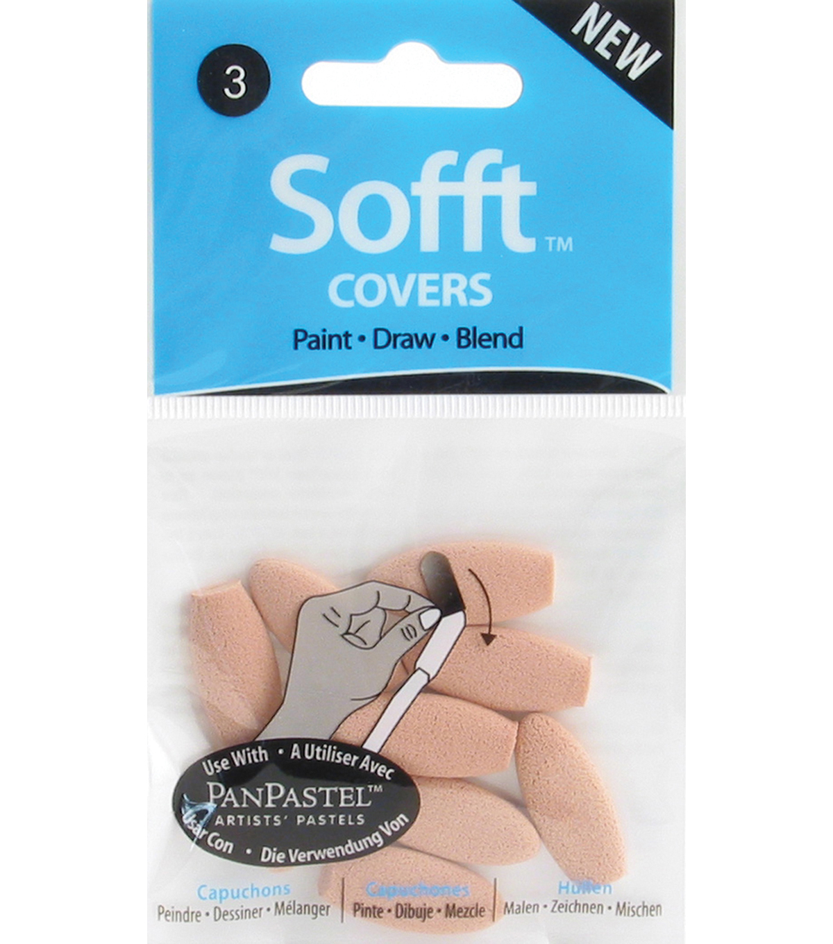 Colorfin Sofft Covers-10PK/Oval