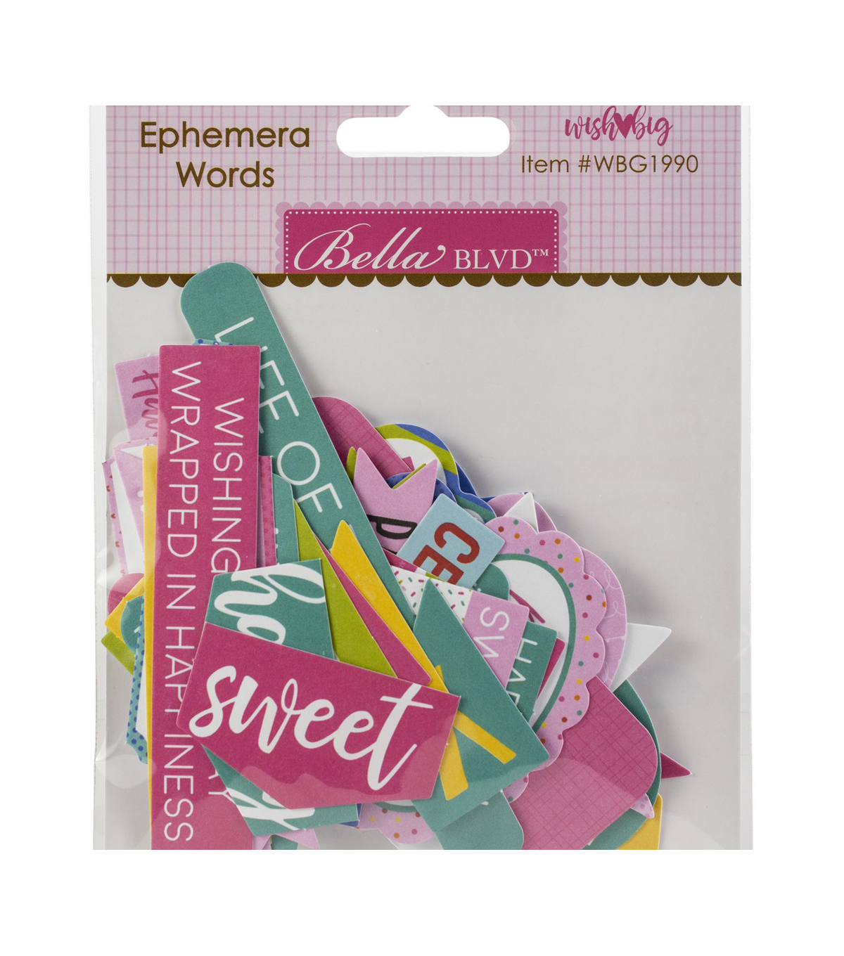 Bella Blvd Wish Big Girl Cardstock Die-Cuts-Birthday Words