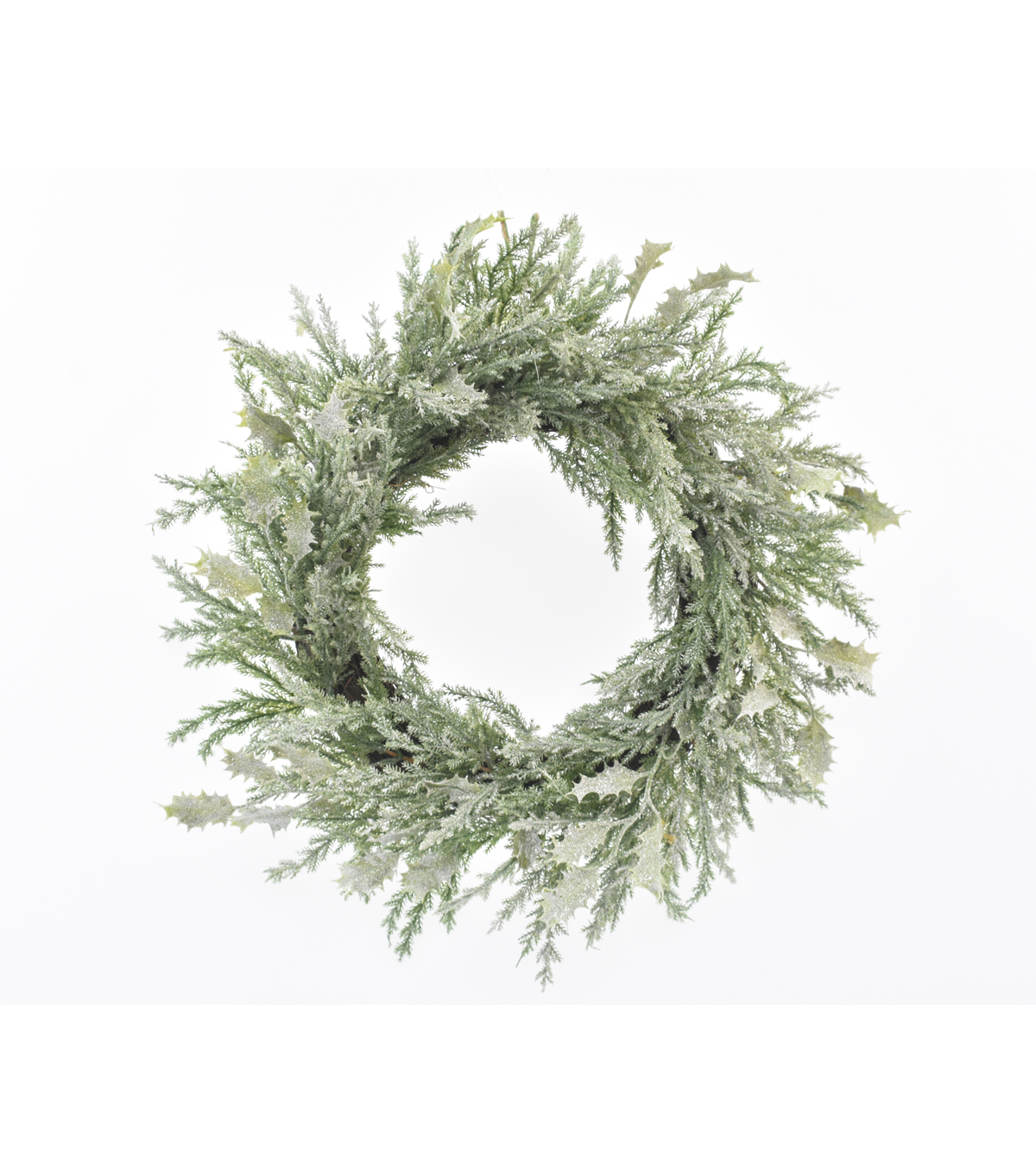 Blooming Holiday Christmas 22\u0027\u0027 Glitter Holly Leaf Wreath