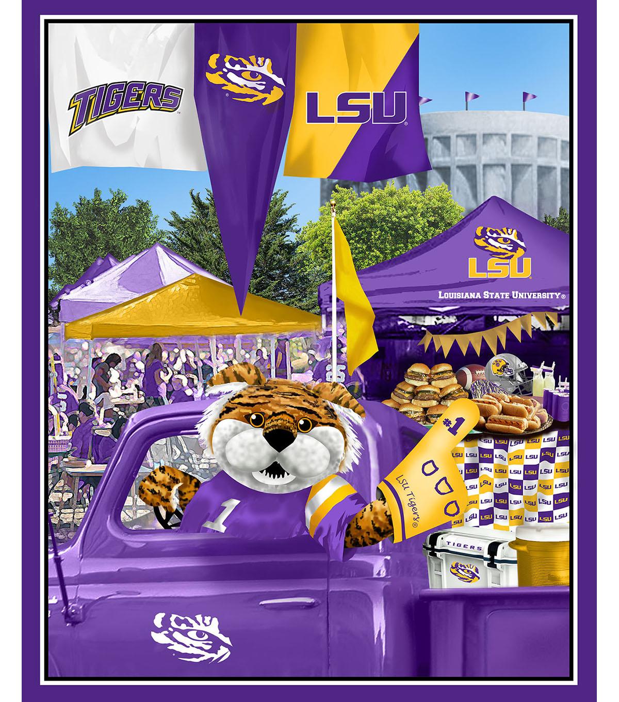 LSU Tigers Cotton Panel 36\