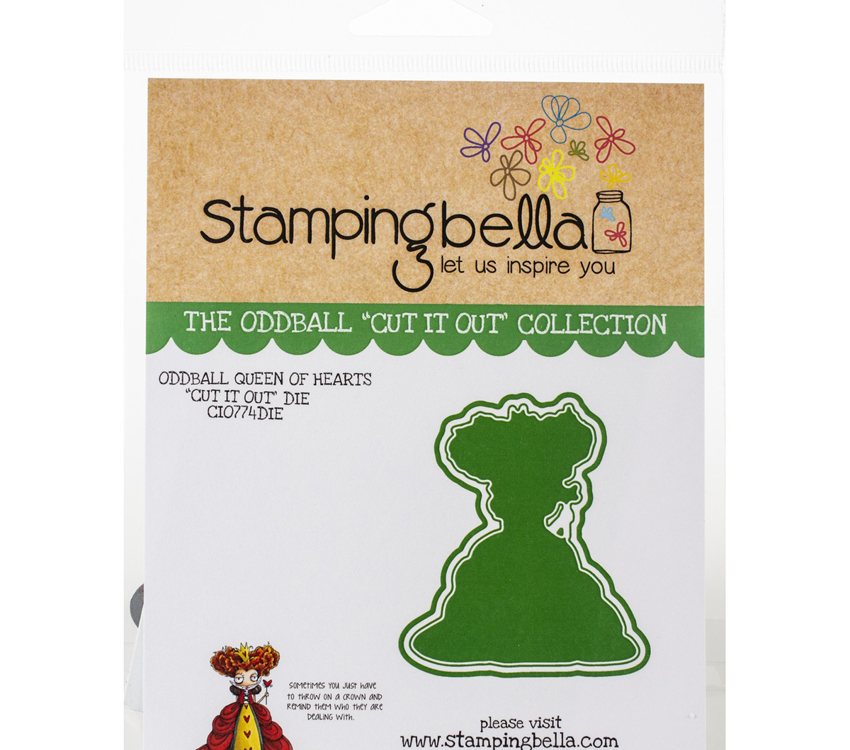 Stamping Bella Cut It Out Dies-Oddball Queen Of Hearts