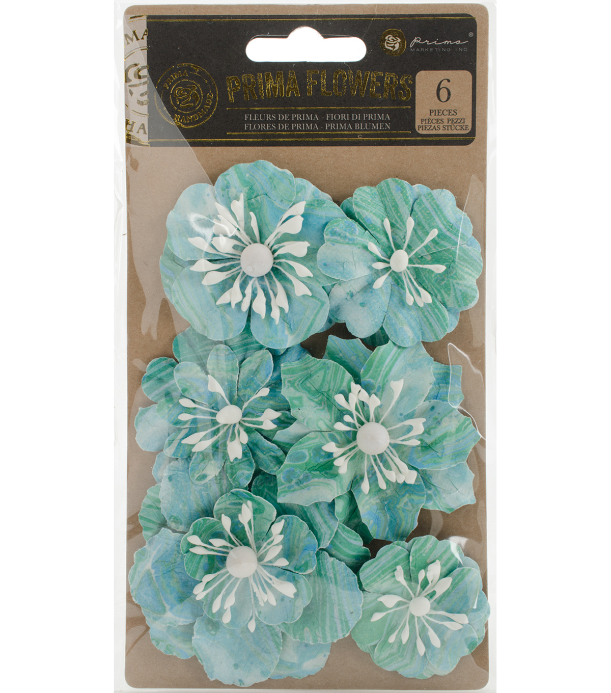Prima Marketing 6 pk Flowers-Onyx