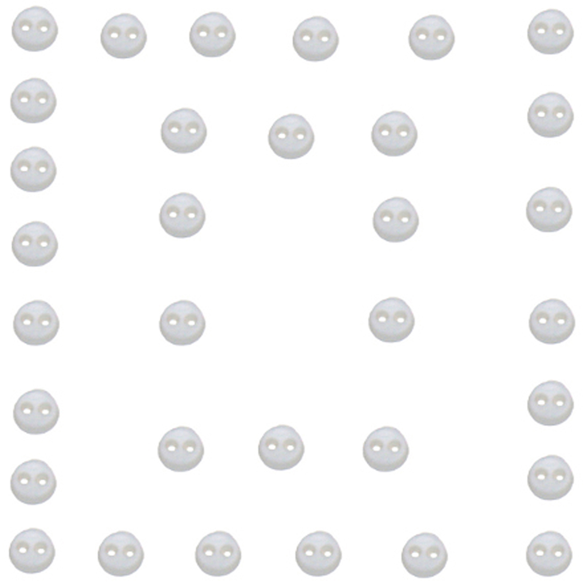 Dress It Up Embellishments, Micro Mini Round Buttons - Whi