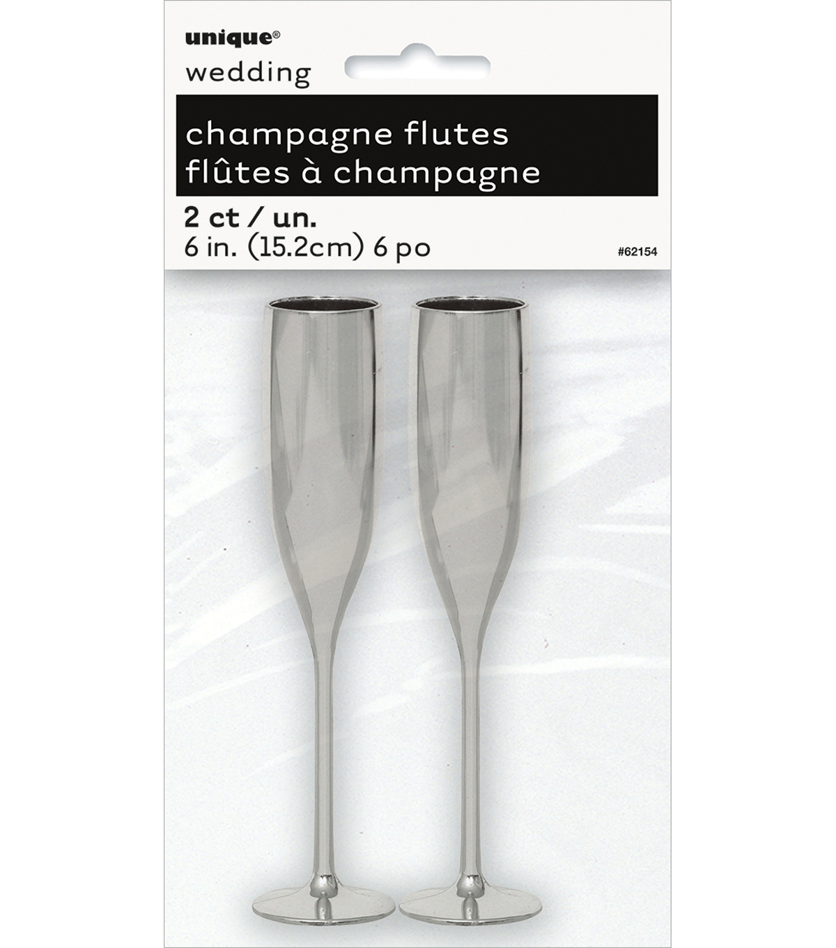 Unique Industries 2ct Wedding Champagne Flutes