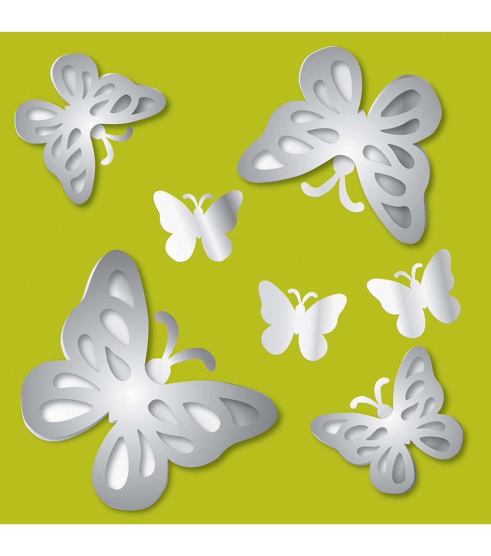 Wall Pops Butterflies 3D Peel and Stick Mirror Art, 7 Piece Set   JOANN