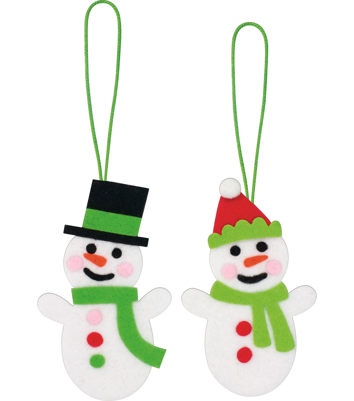 little makers christmas ornaments snowmen