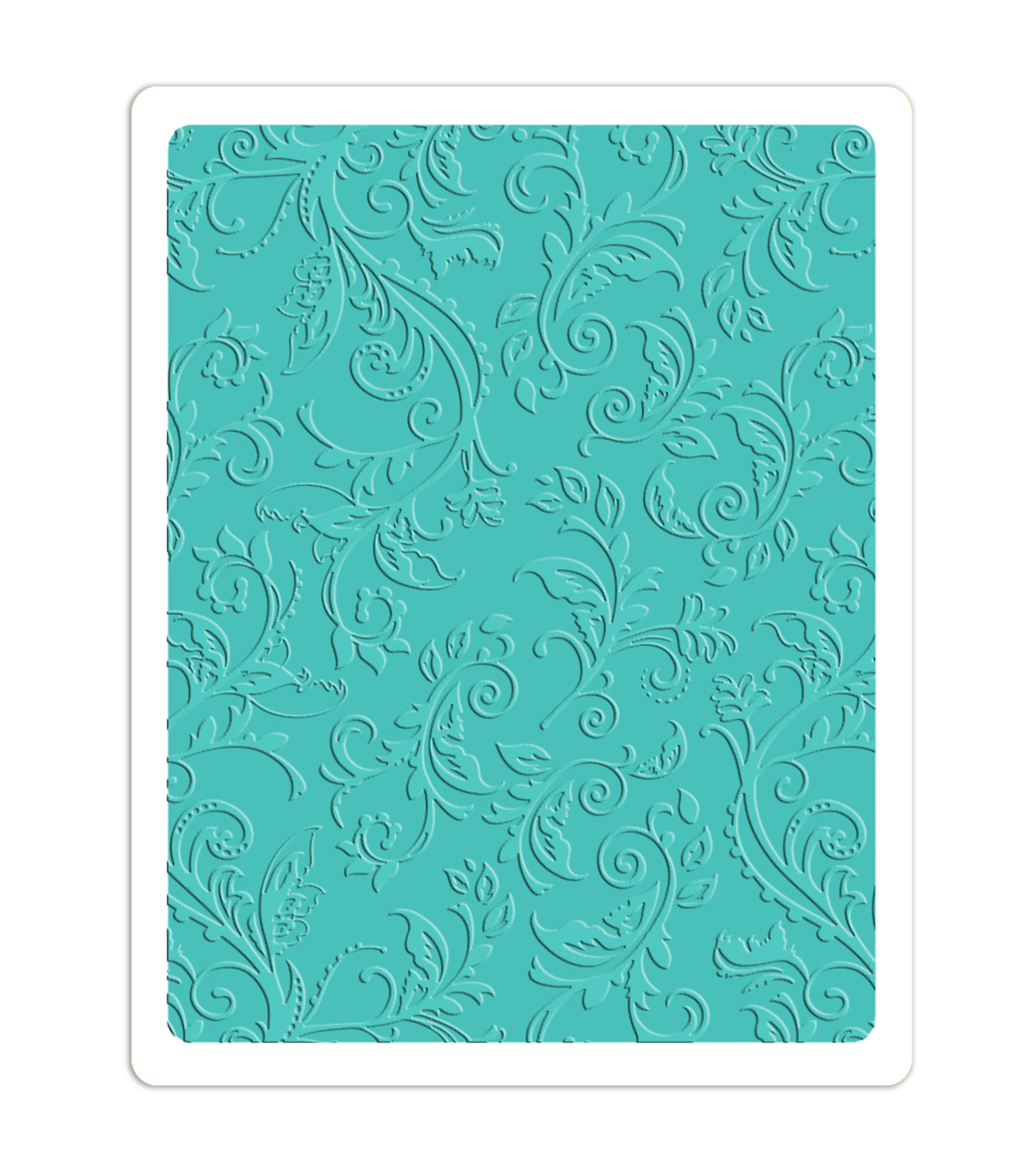Sizzix Textured Impressions Plus Embossing Folder-Botanical Swirls