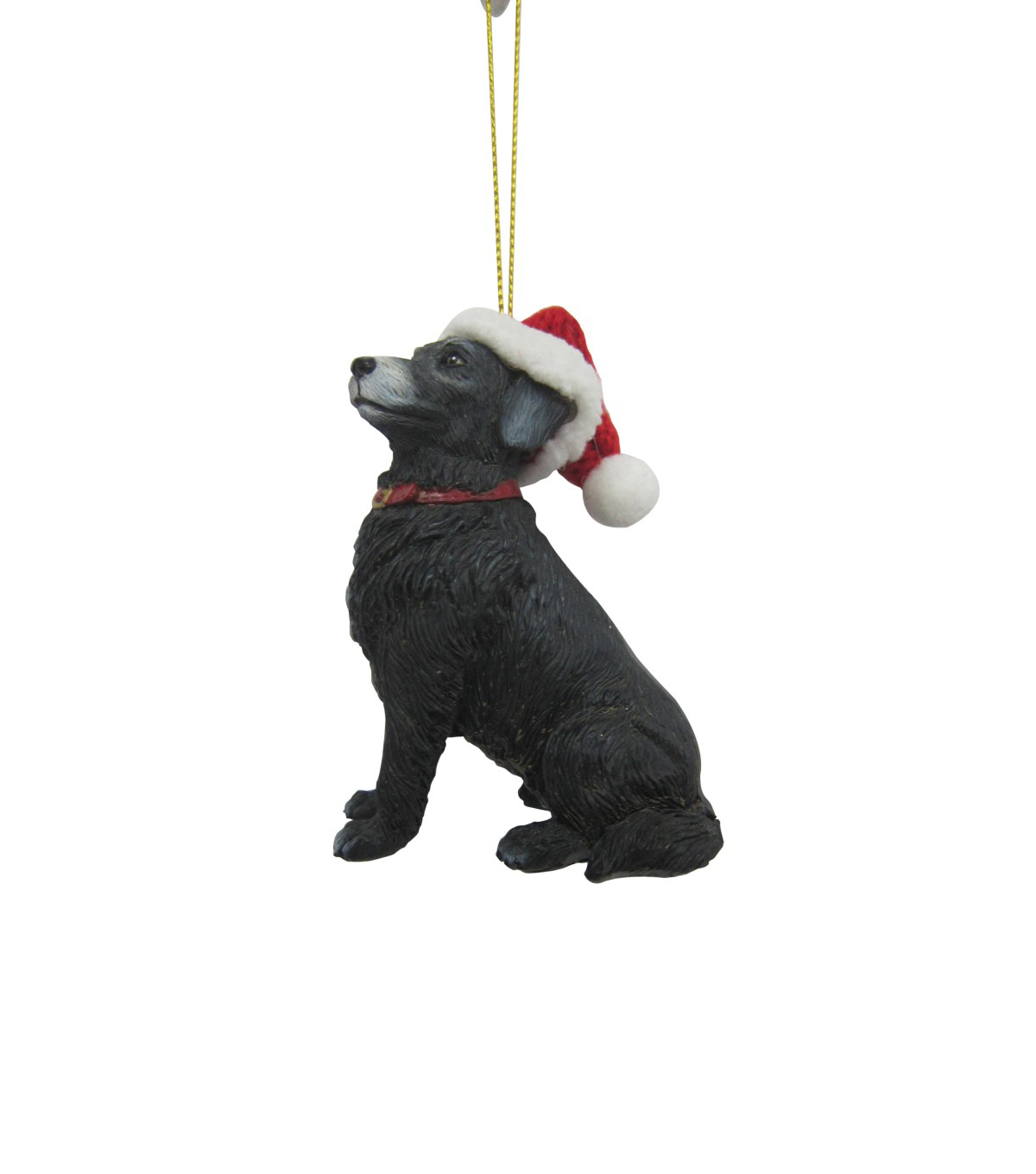 Maker\u0027s Holiday Christmas Lab with Hat Ornament-Black