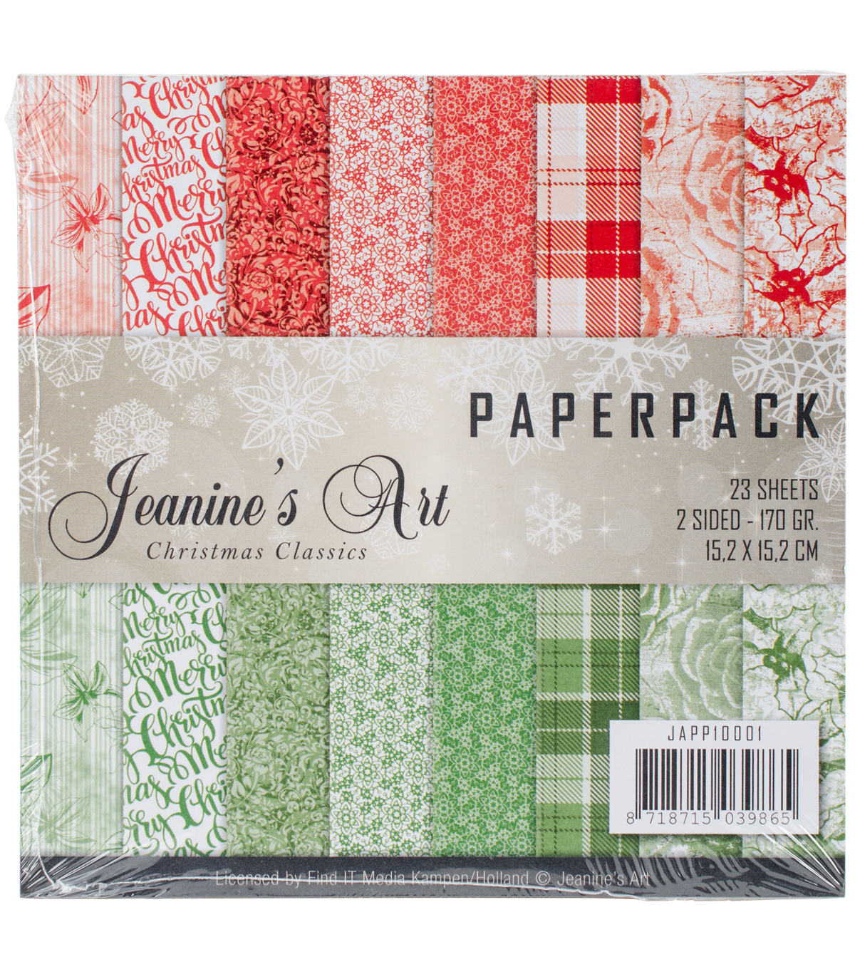 Find It Jeanine\u0027s Art Paper Pack 6\u0022X6\u0022 23/Pkg-Christmas Classics