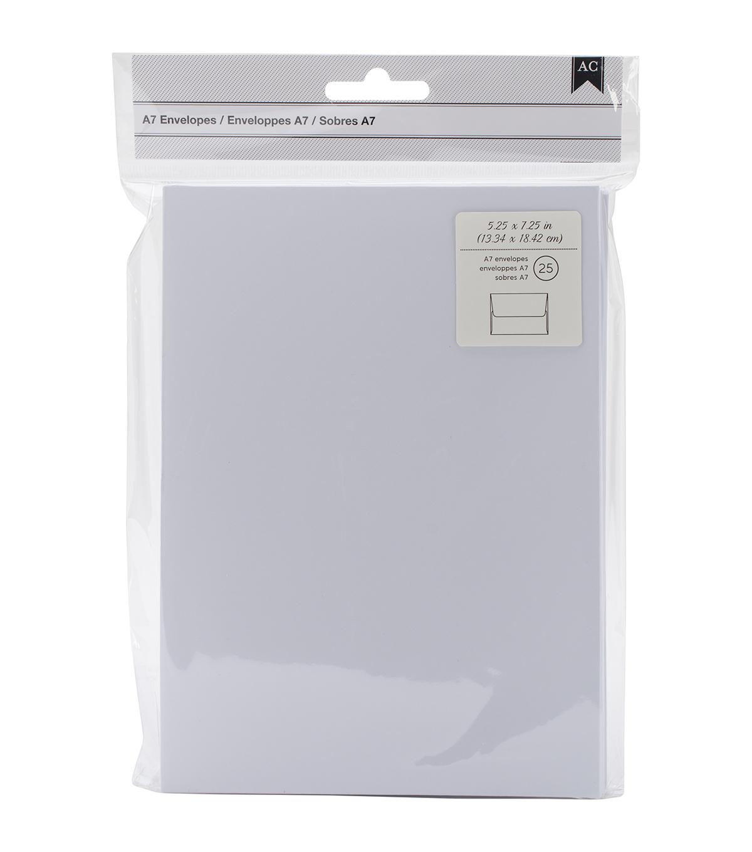 american crafts a7 envelopes 5 25 x7 25 25 pkg white joann