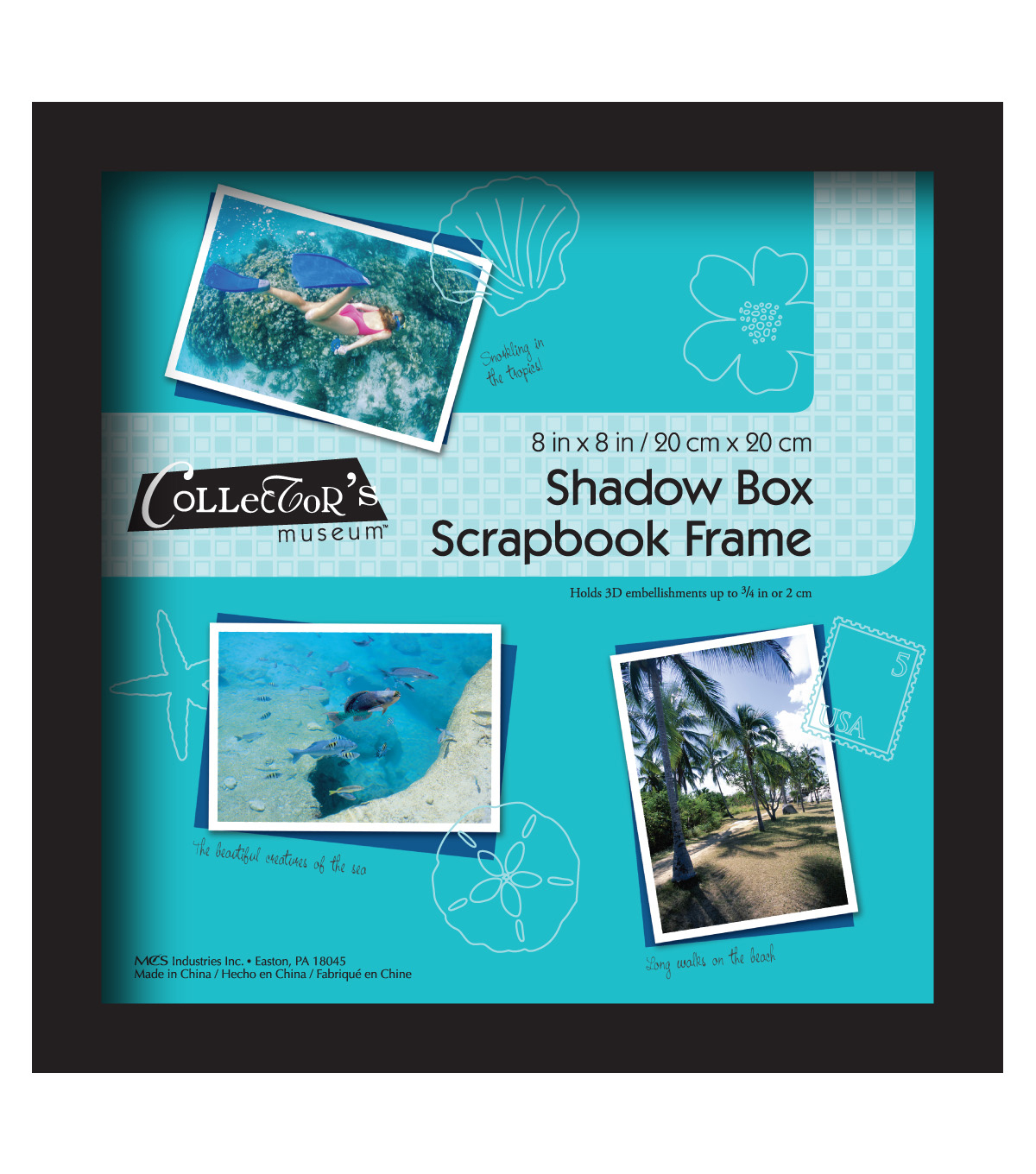 MCS Industries Collector\u0027s Museum Shadow Box Scrapbook Frame-Black