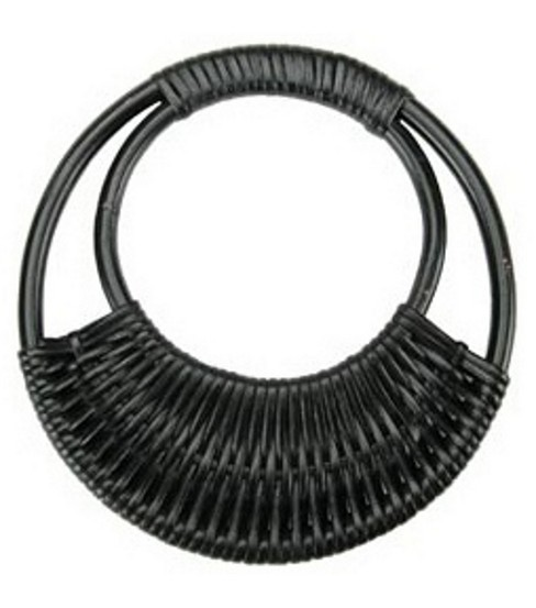 7-1/16\u0022 Diameter Rattan Purse Handle-Black