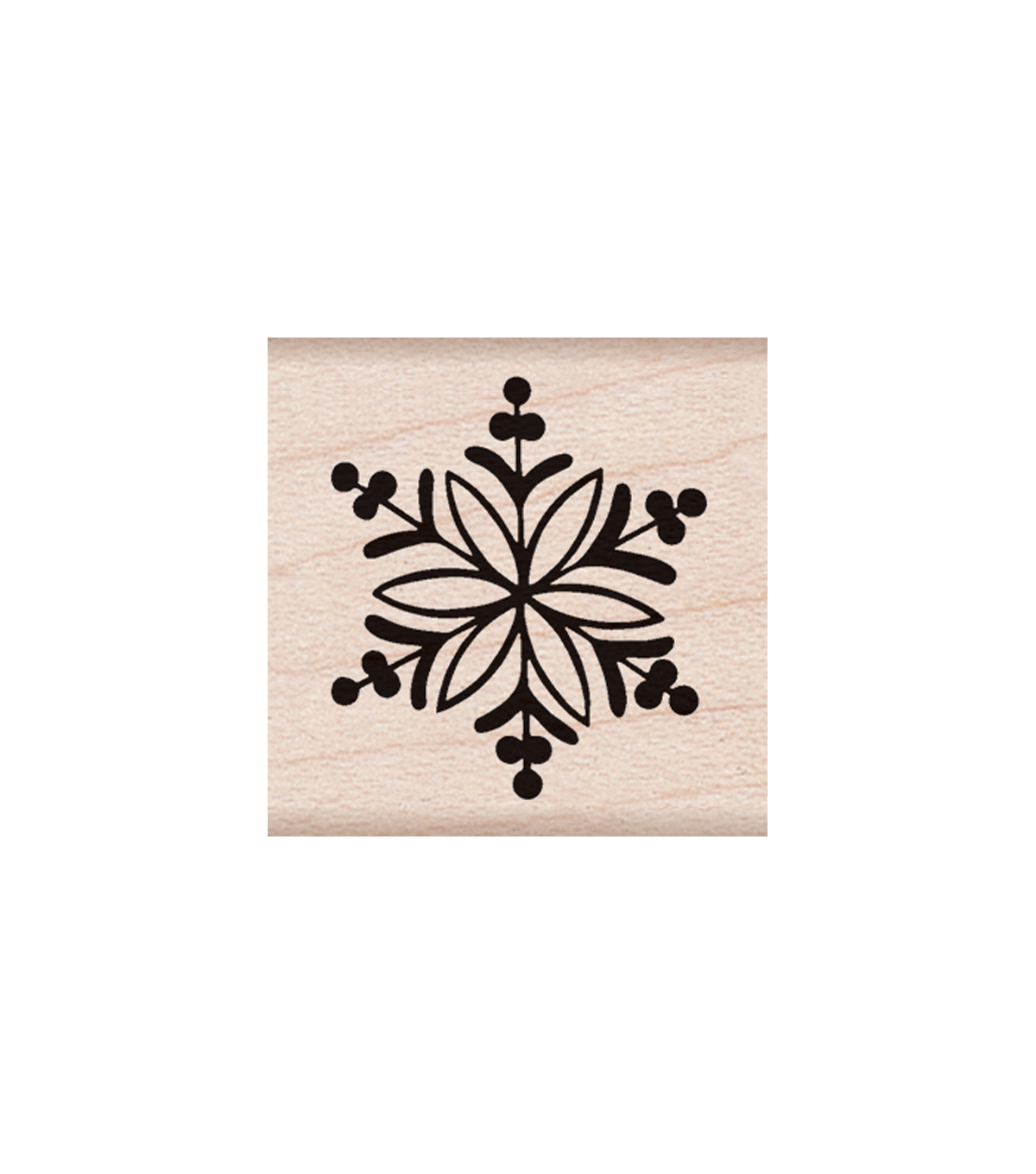 Hero Arts Wood Mounted Rubber Stamp-Little Snowflake
