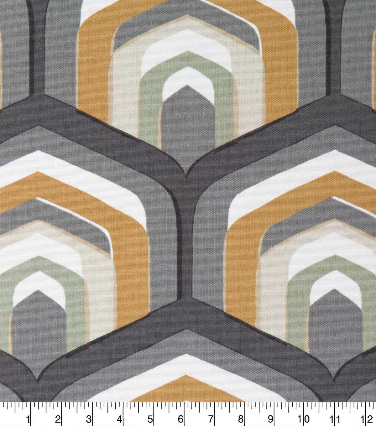 Robert Allen @ Home Upholstery Swatch 55\u0022-Piston Geo Amber
