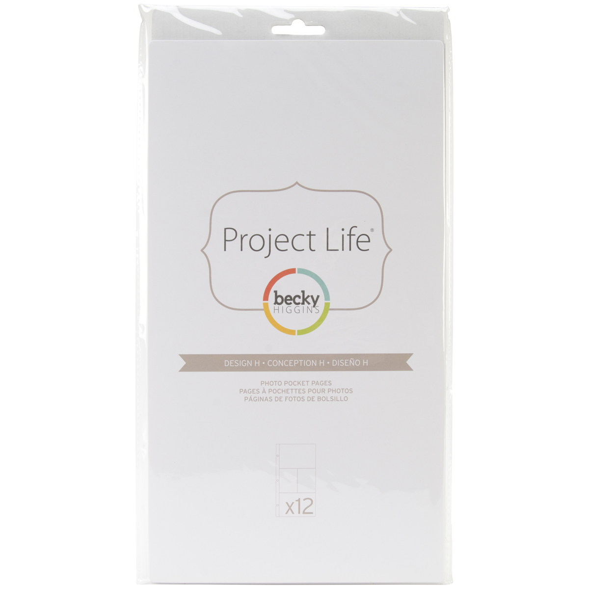 Project Life Photo Pocket Pages 12/Pkg-Design H