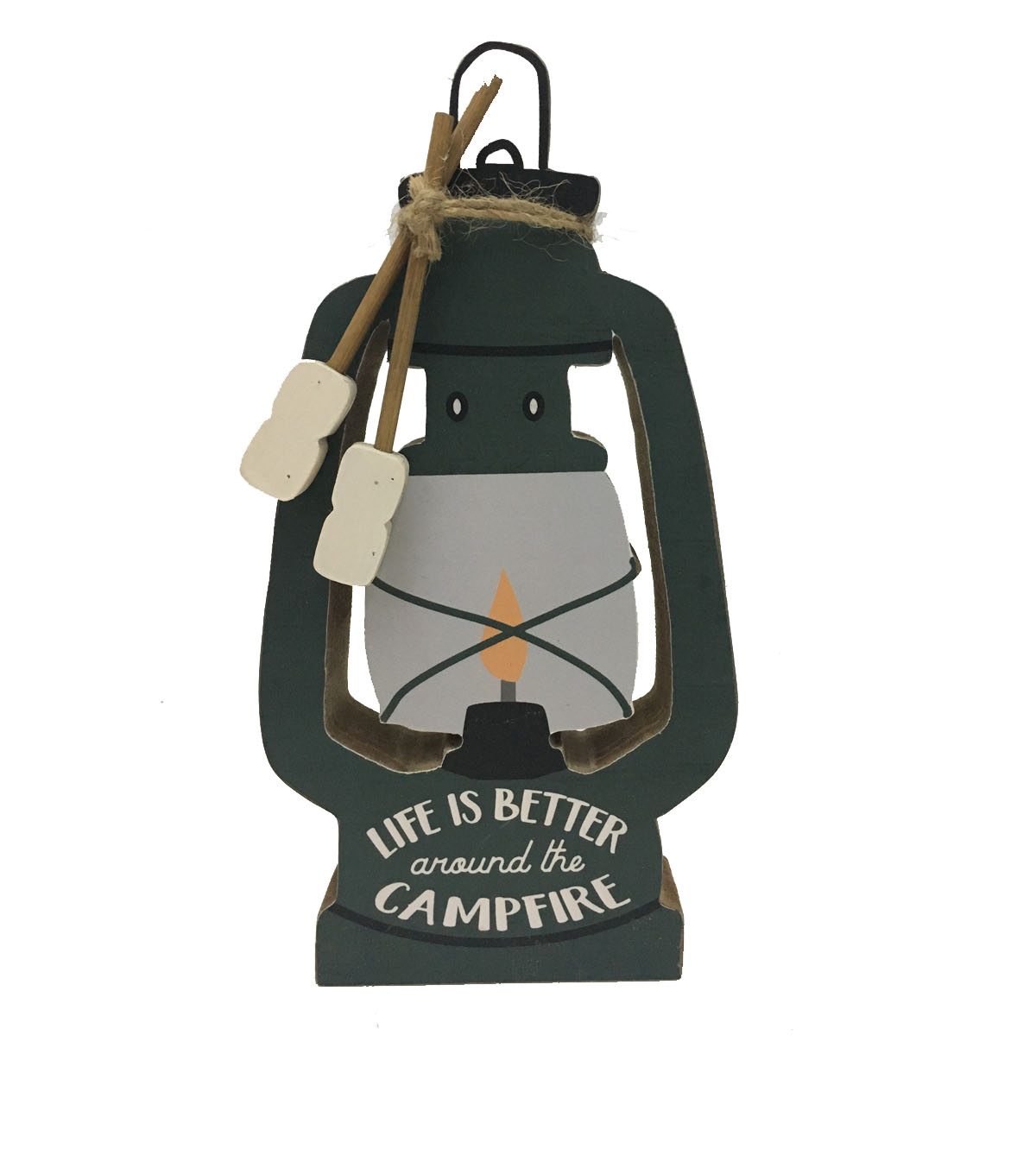 Camp Ann Lantern Word Block-Life is Better Around the Campfire