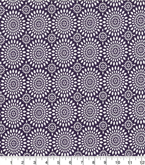 Quilter\u0027s Showcase Cotton Quilt Fabric 44\u0022-Mums Purple