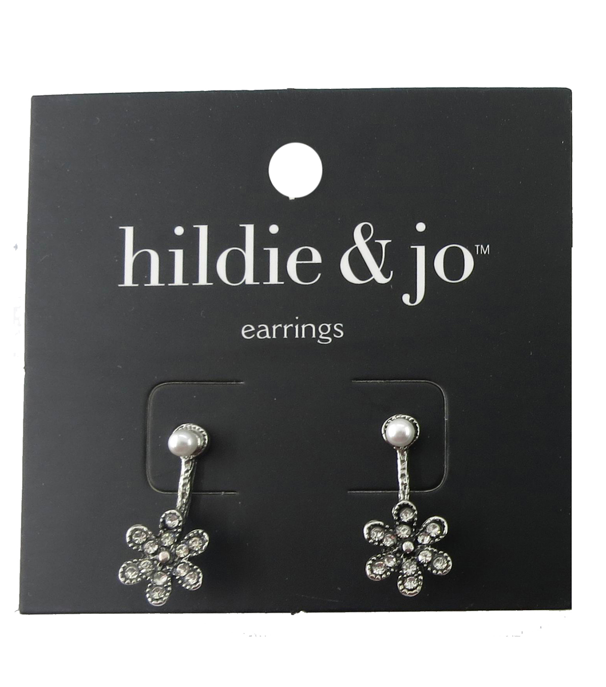 hildie & jo 0.88\u0027\u0027x0.38\u0027\u0027 Flower Silver Earrings