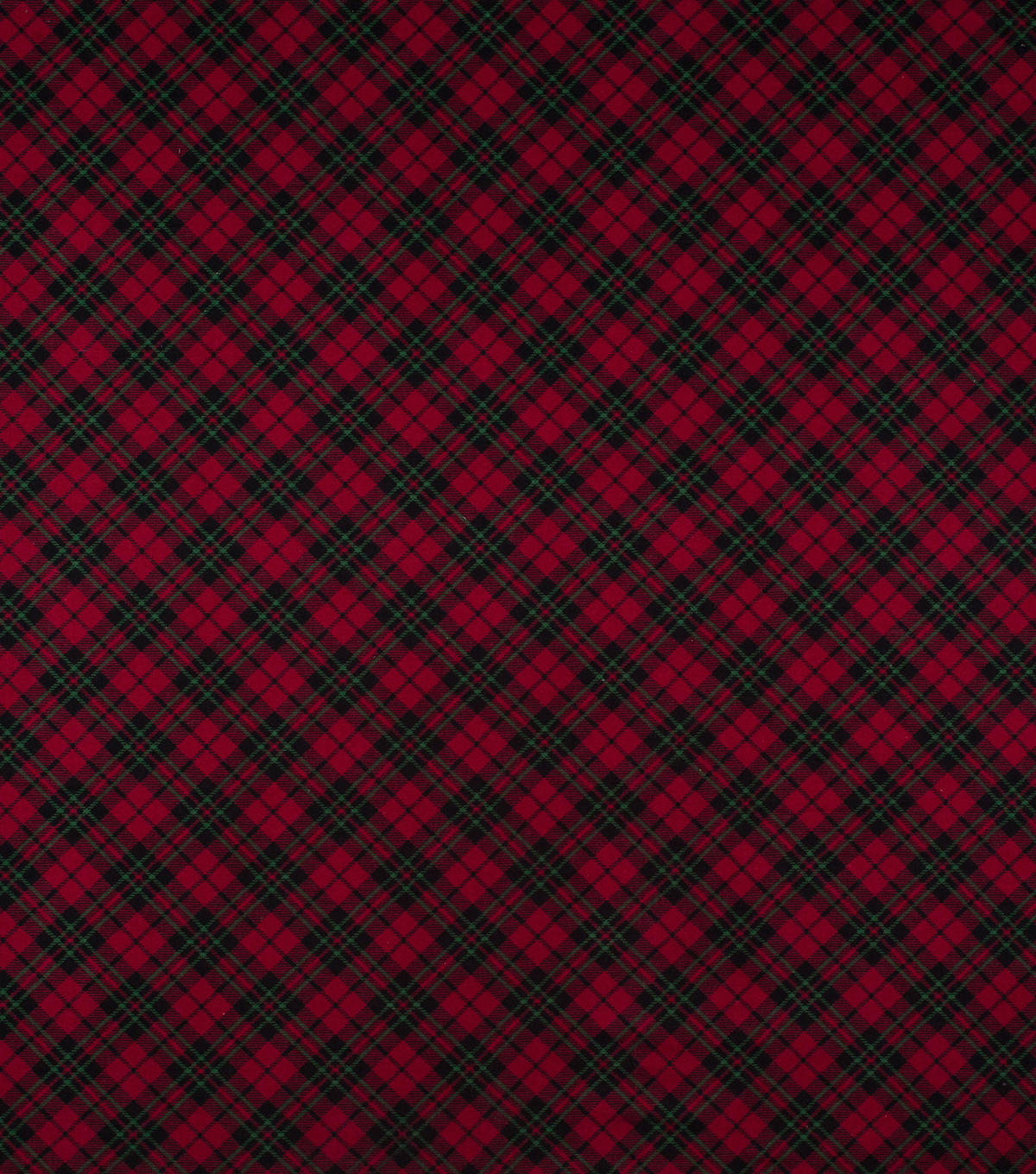 Super Snuggle Flannel Fabric-Black, Red & Green Plaid