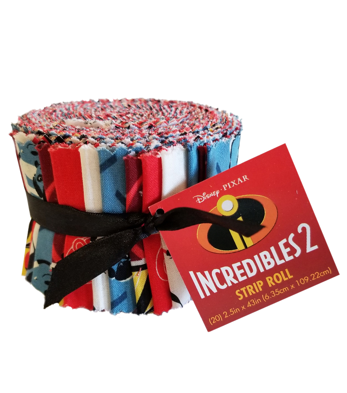 Disney Incredibles 20 pk Cotton Strip Rolls 2.5\u0027\u0027x-Multi