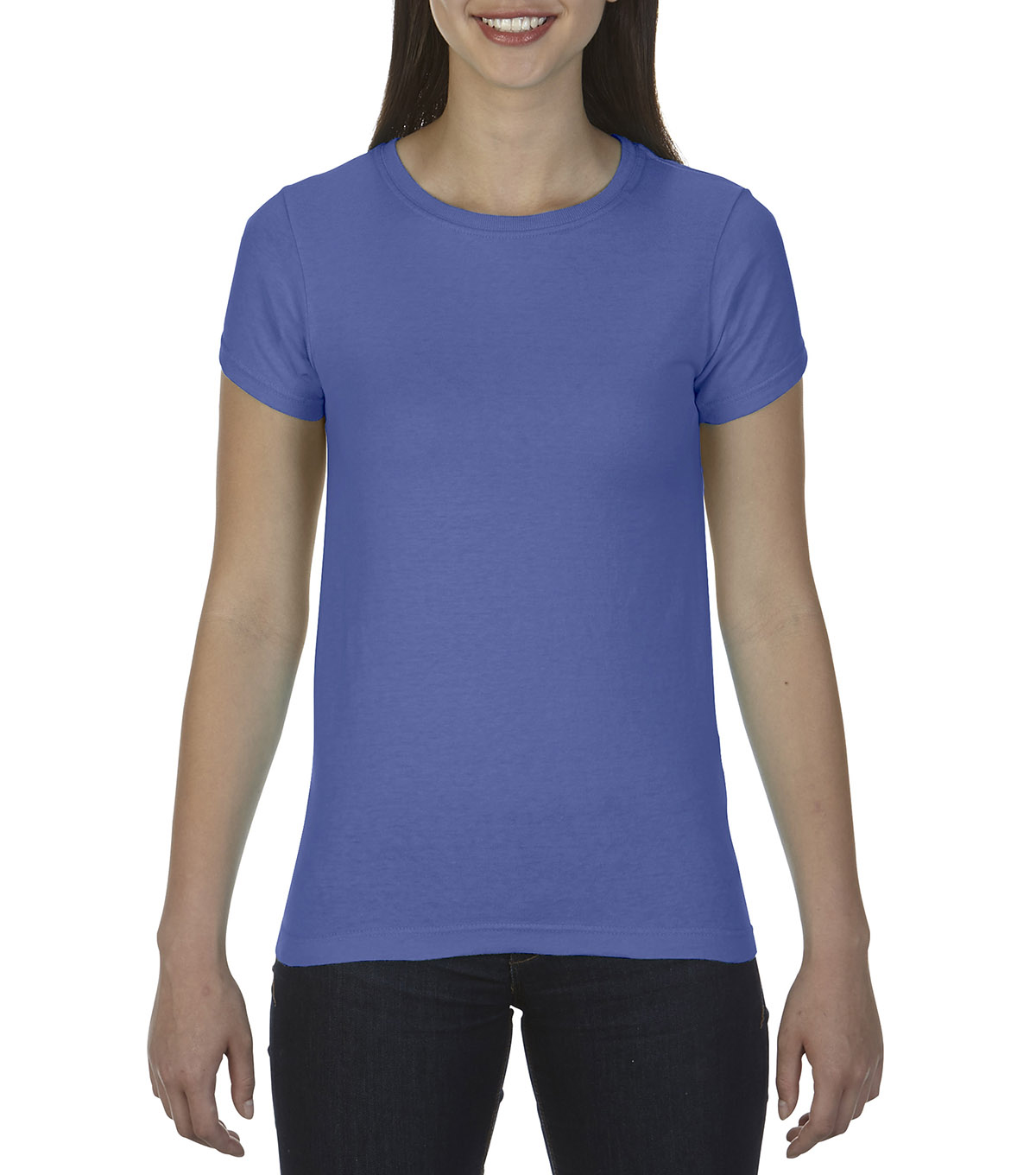 Comfort Colors Large Ladies T-Shirt, Floblue