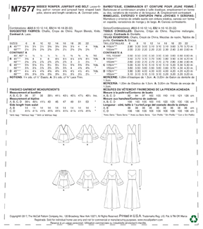 McCall\u0027s Pattern M7577 Misses\u0027 Cross-Bodice Romper, Jumpsuit & Belt