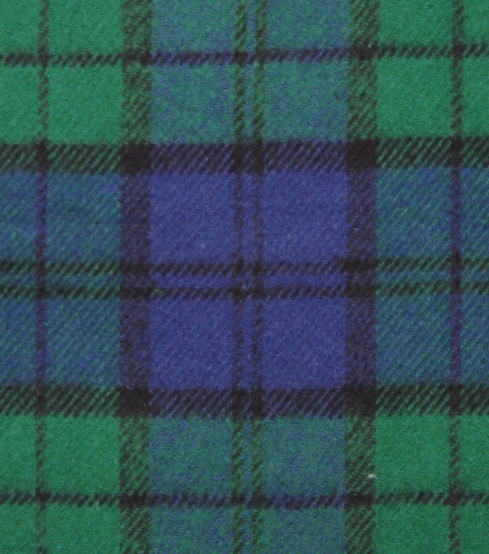 Plaiditudes Brushed Cotton Fabric Navy Green Blackwatch Plaid