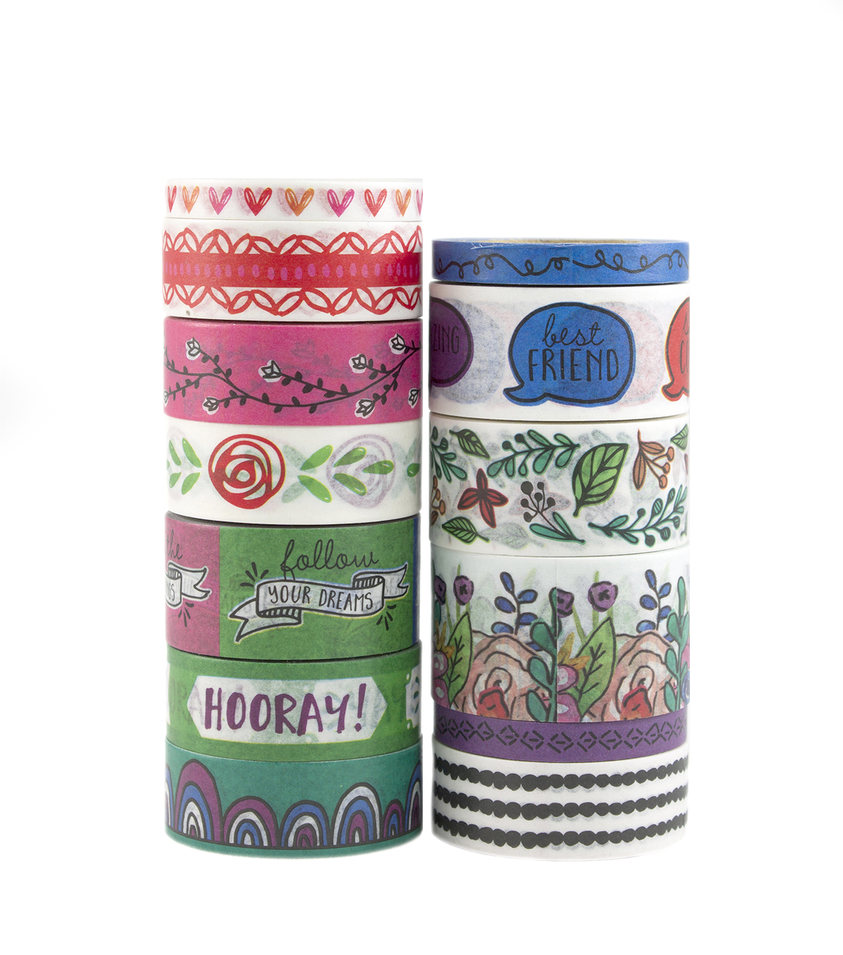 Park Lane Value 13 pk Washi Tapes 0.6\u0027\u0027x10 yds-Sketch Book