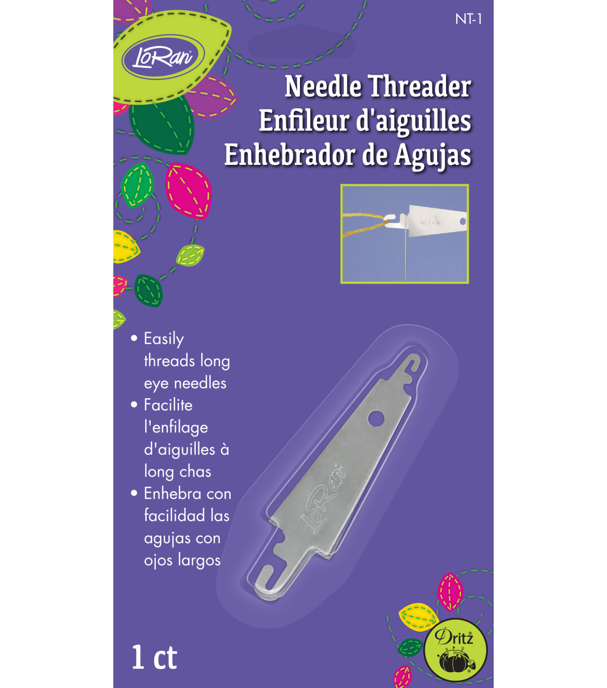LoRan Needle Threader For Eye Needles Large