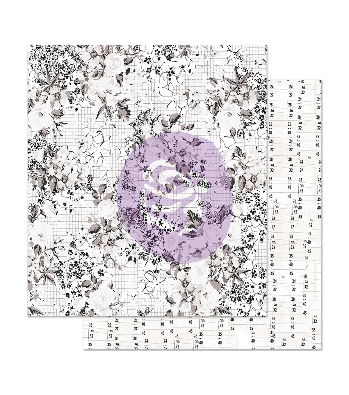 Pretty Pale Foiled Double-Sided Cardstock 12\u0022X12\u0022-Colorless