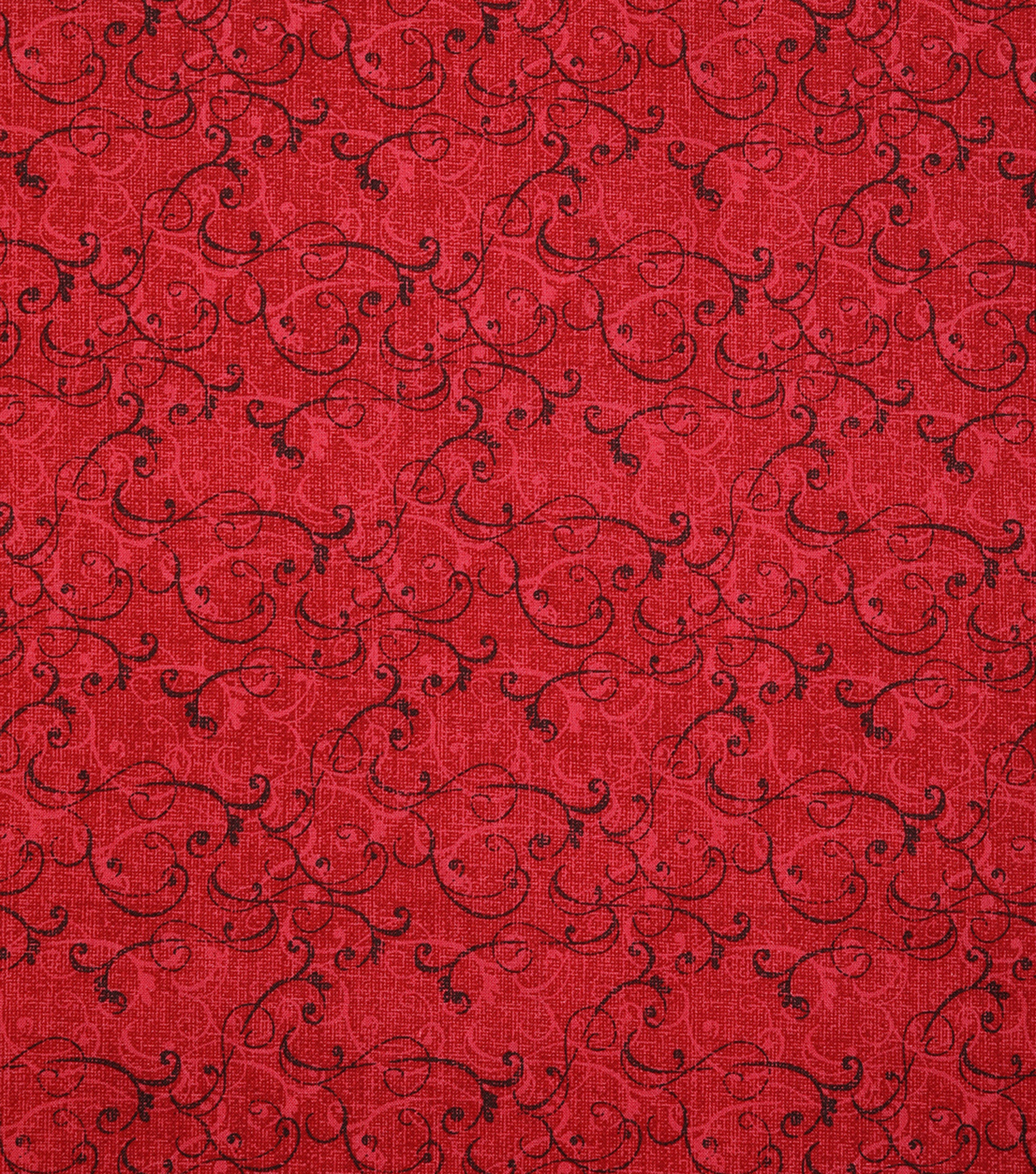 Christmas Cotton Fabric-Holiday Vine Red