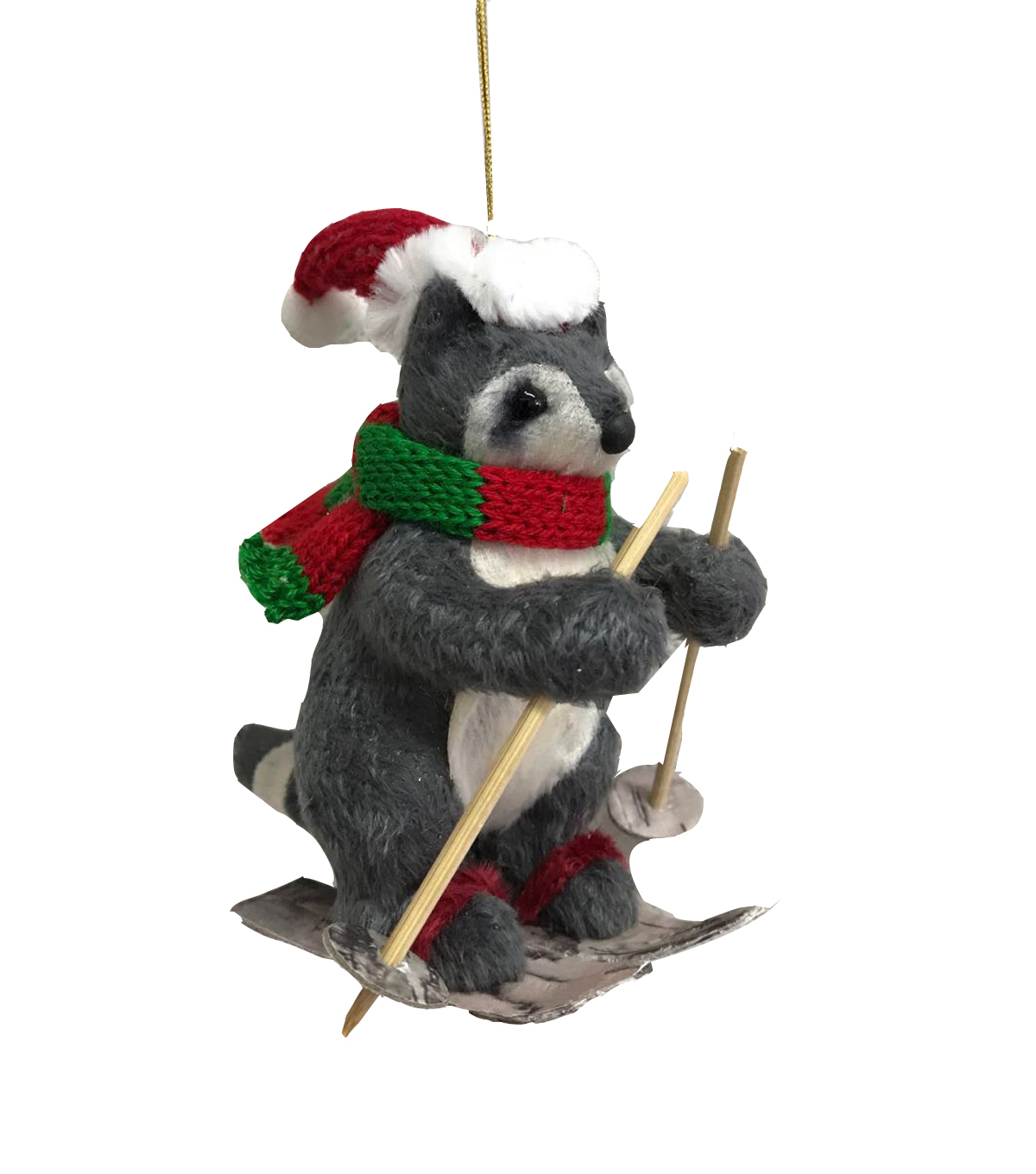 Maker\u0027s Holiday Christmas Felt Raccoon Ornament