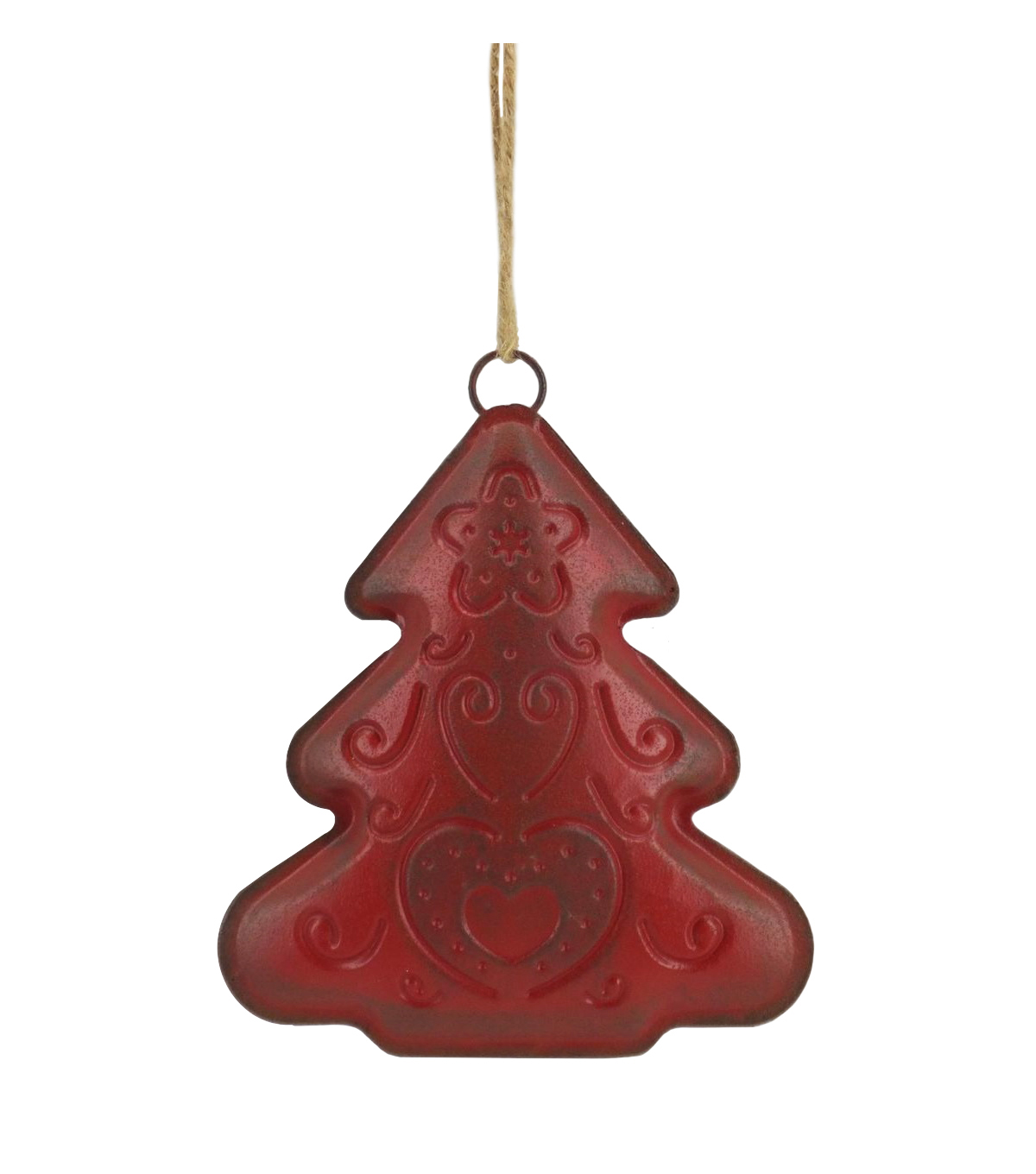 Maker\u0027s Holiday Christmas Woodland Lodge Tree Ornament-Red