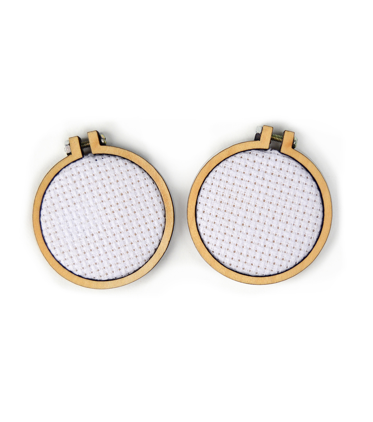 Cross Stitch Style Mini Embroidery Hoops