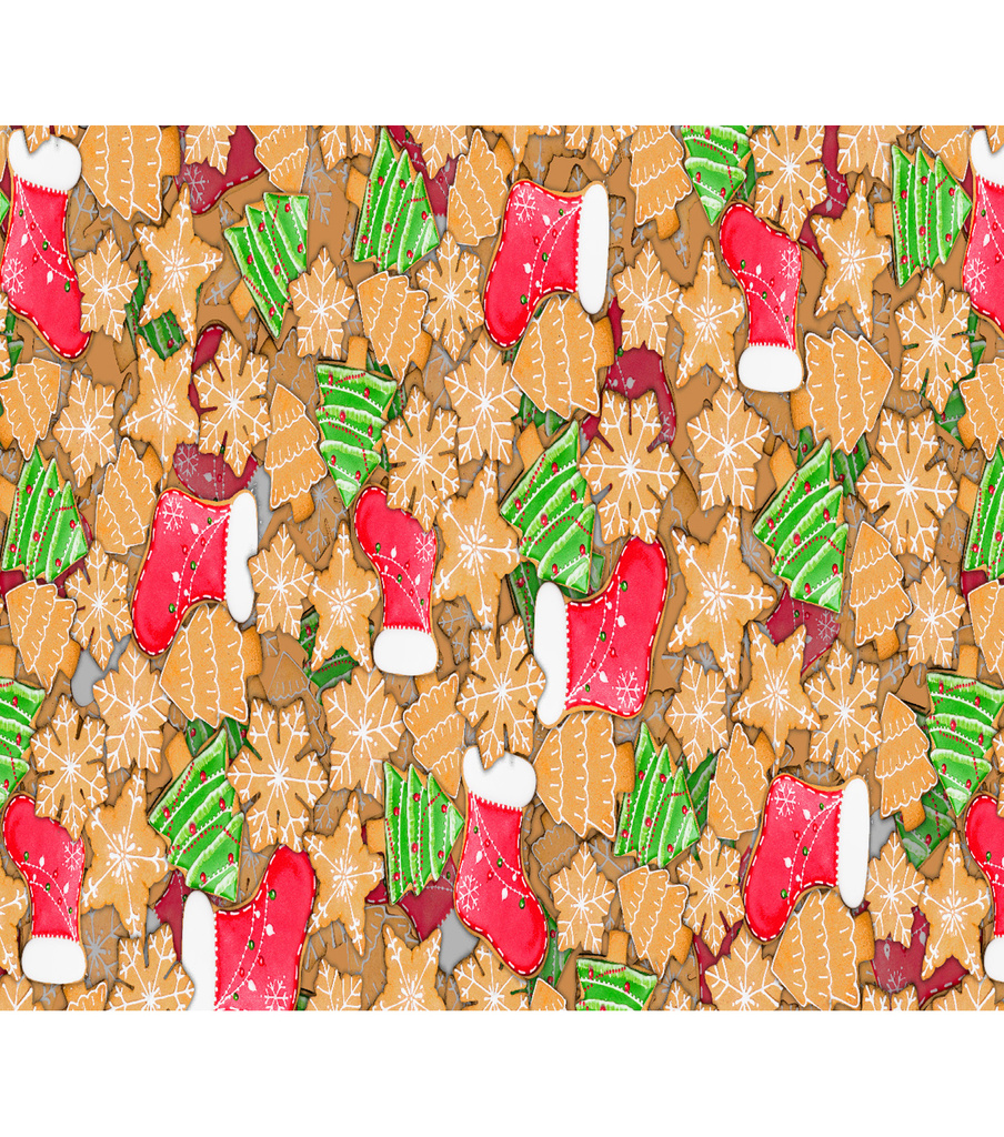 Christmas Cotton Fabric-Cookies