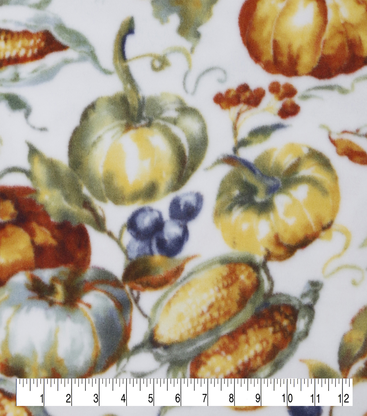 Anti-Pill Plush Fleece Fabric-Fall Harvest