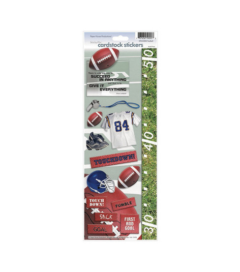 Paper House Cardstock Stickers-Football