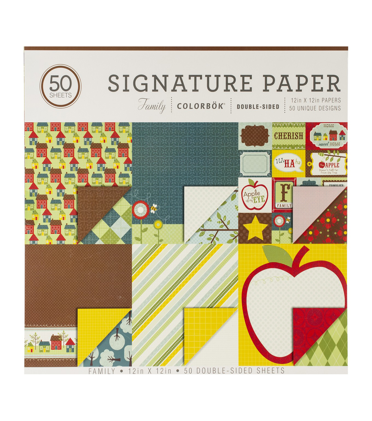 Colorbok Family 50 pk Double-sided Signature Papers