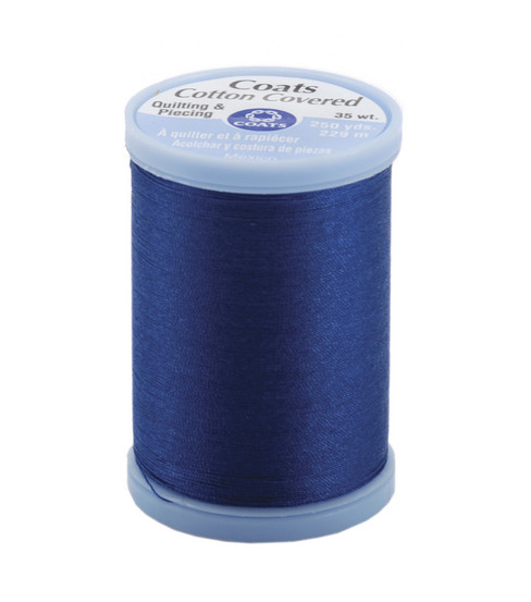 Coats & Clark Cotton Covered Quilting & Piecing Thread 250 Yards , 4470 Yale Blue