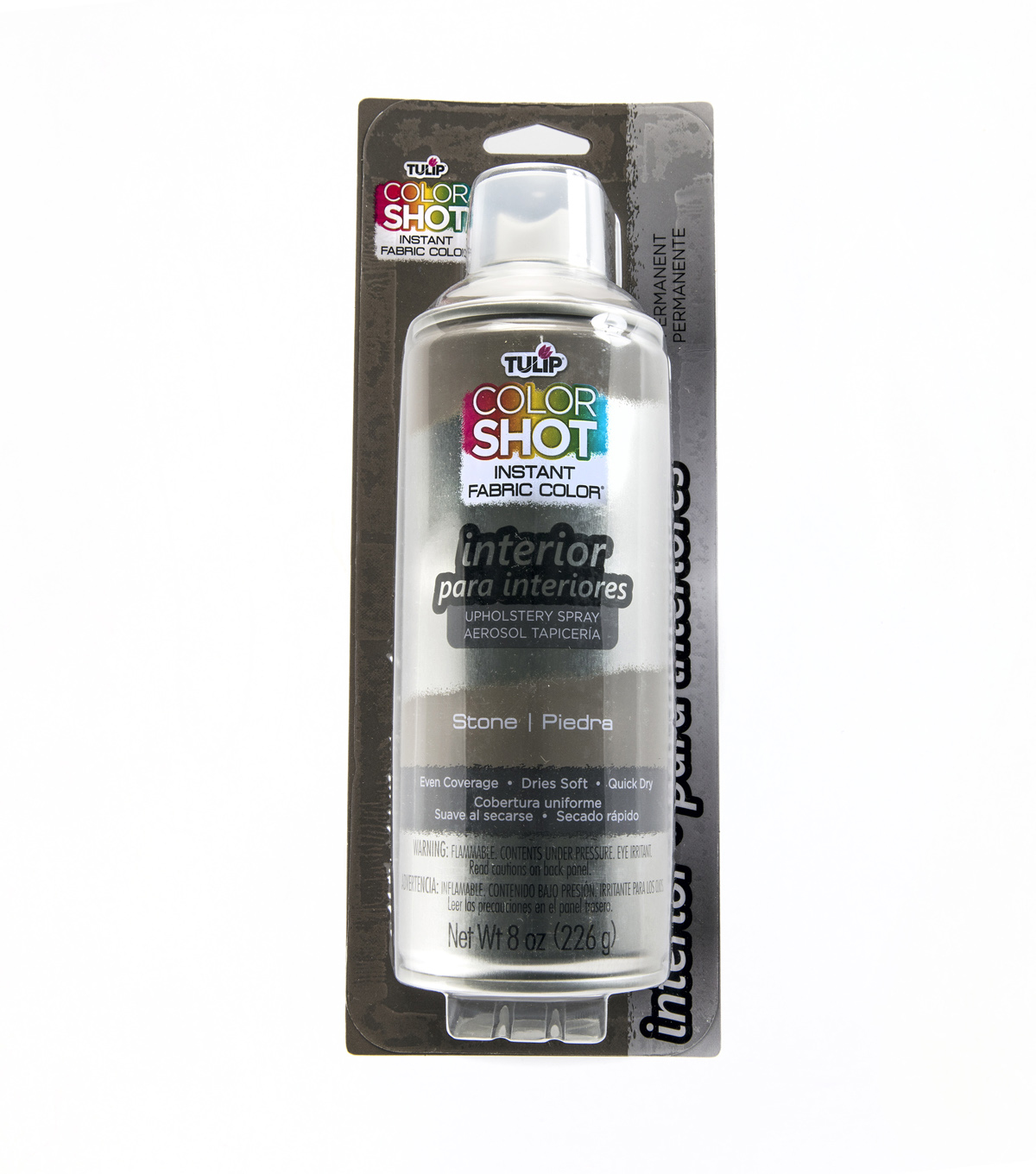 Tulip ColorShot 8oz Indoor Upholstery Spray, Stone
