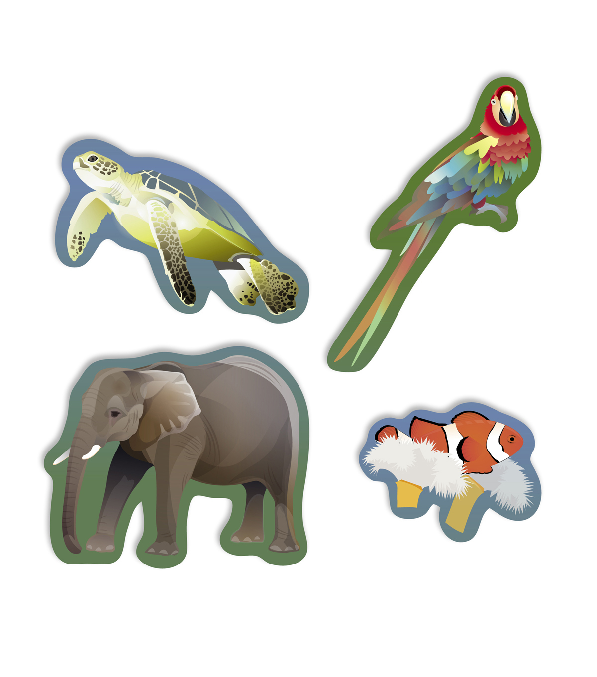 Busy Kids Learning Sticker Packs-Animals of the World