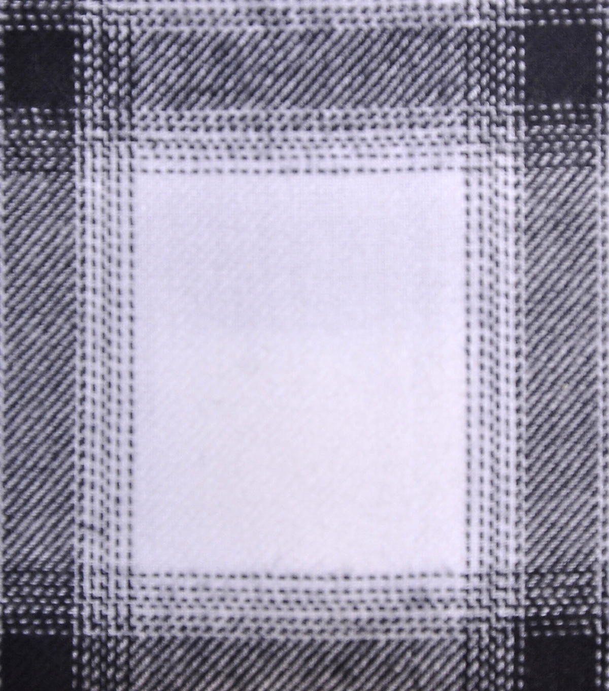 Cotton Shirting Fabric 42\u0027\u0027-Black & White Ombre Plaid
