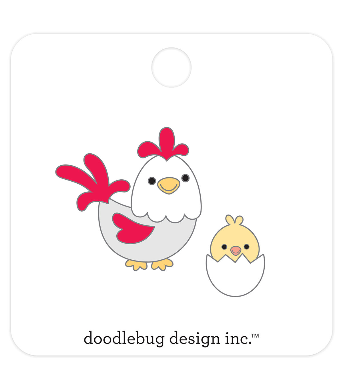 Doodlebug Design 2 pk Collectible Enamel Pins-Hen & Chicks