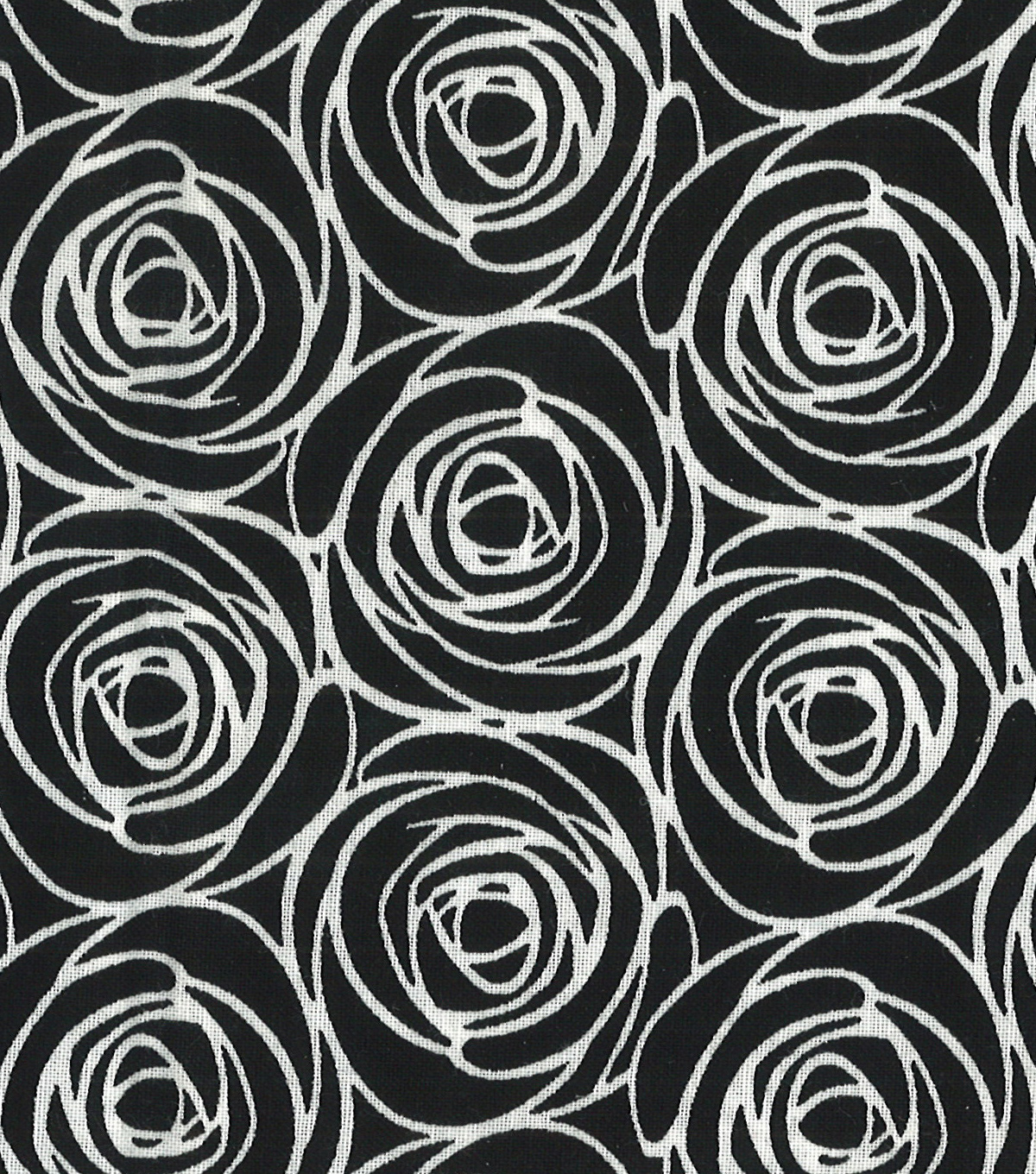 Quilter\u0027s Showcase Cotton Fabric -Floral Outline on Black